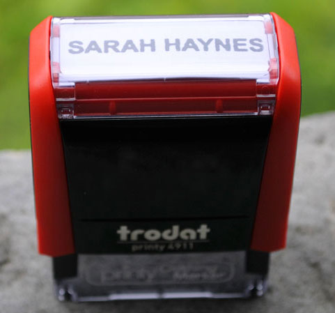 Clothing Stamper Personalized